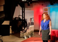 Lisa Bien in front of the camera at the set of Bouncing Back