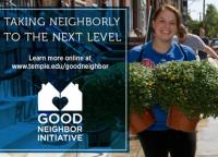 Temple Good Neighbor Initiative