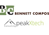 Bennett Compost and peakXtech logos