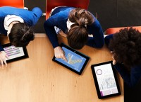 Kids using technology