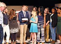 Cast of Temple Talk saying goodbye to Luke Frey