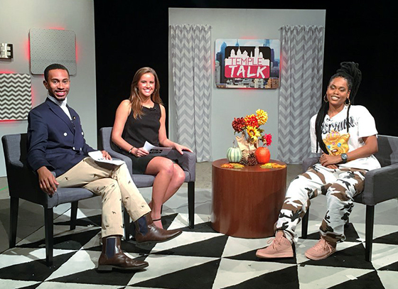 Temple Talk and hosts and guest, Bri Steve