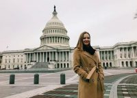 Reporter Cassie Semyon reporting from DC