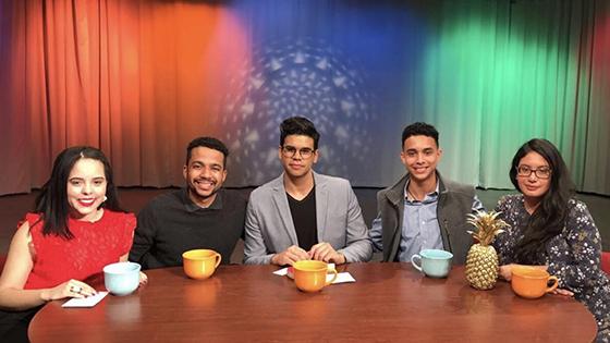 The hosts of TUTV's La Charla
