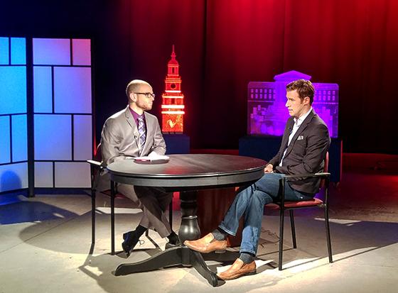 Jon Dowding with Brian Taff