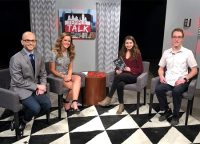 Temple Talk hosts with Milk and Vine writers