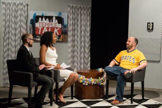 Temple Talk hosts with Andrew Sturt
