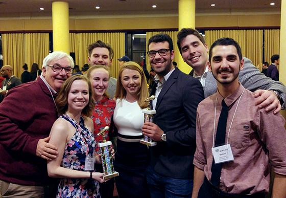 TUTV representatives at the 2018 IBS Awards