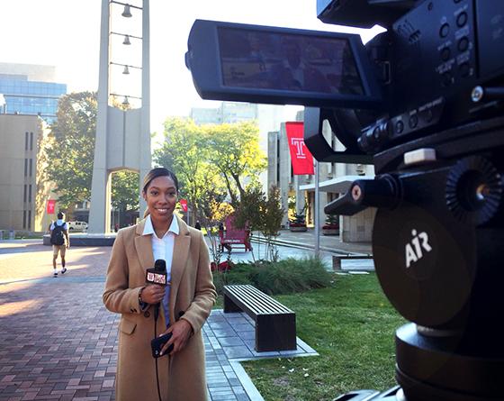 Temple Update reporter Zuri Hoffman