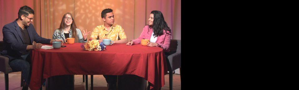 La Charla host and panelists